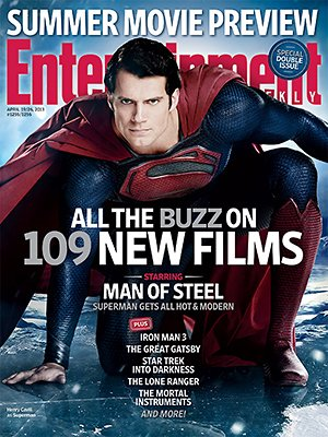 Henry Cavil in 'Man of Steel'