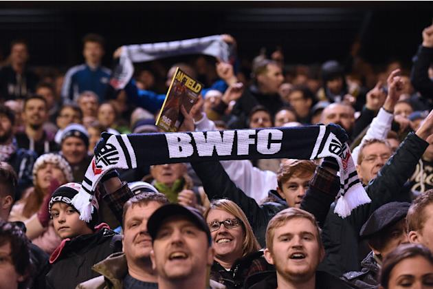 Bolton Wanderers' supporters on January 24, 2015