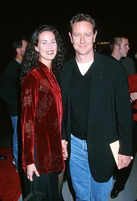 Judge Reinhold and his wife at the Beverly Hills premiere of Miramax Films' Chocolat