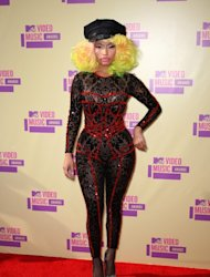 Nicki Minaj arrives at the 2012 MTV Video Music Awards at Staples Center, Los Angeles, on September 6, 2012 -- Getty Images