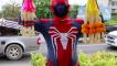 Man sells flowers dressed as Spider-Man