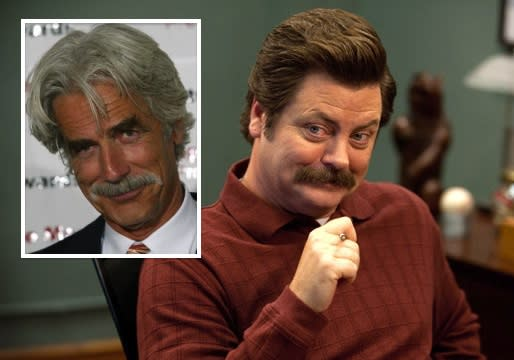 Parks and Recreation Exclusive: Sam Elliott Cast as Ron Swanson's Eagleton Doppelganger