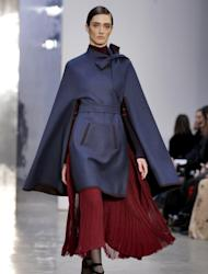 The Carolina Herrera collection is modeled during Fashion Week in New York, Monday, Feb. 13, 2017. (AP Photo/Richard Drew)