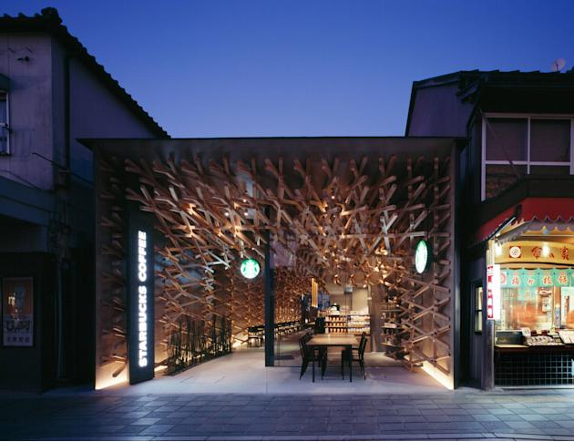 Kengo Kuma designs the world's most peaceful StarbucksIf all Starbucks cafes looked like this, it would almost certainly put an end to take-out drinks! After all, who would want to leave a buildin