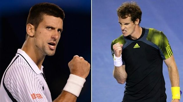 2013 Australian Open Novak Djokovic (l) Andy Murray (r)