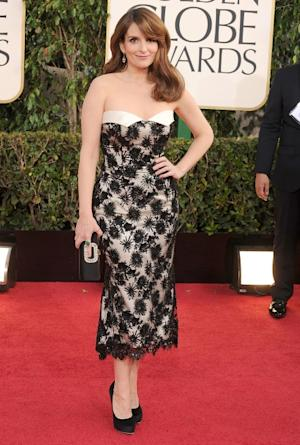Tina Fey arrives at the 70th Annual Golden Globe Awards at The Beverly Hilton Hotel on January 13, 2013 in Beverly Hills -- WireImage