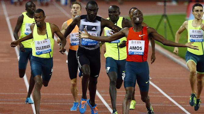 Athletics - Amos beats Rudisha again, Merritt cruises home