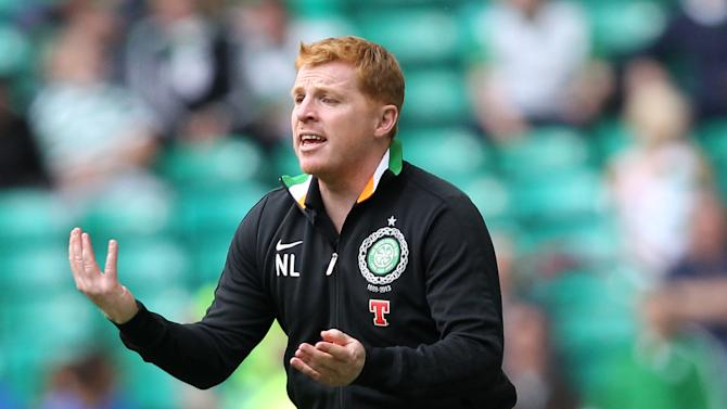 Neil Lennon, pictured, insists Celtic will not put Scott Brown at risk