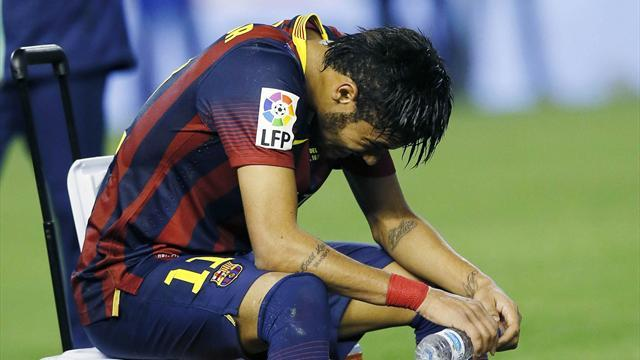 Liga - Barcelona suffer double blow as Neymar, Alba ruled out