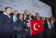 Representatives of Istanbul, celebrate in May after their city was one of three shortlisted to host the 2020 Olympics. The London Olympics have not yet started but the three candidates still in the race to host the 2020 Summer Games are gearing up to make an impression in the British capital