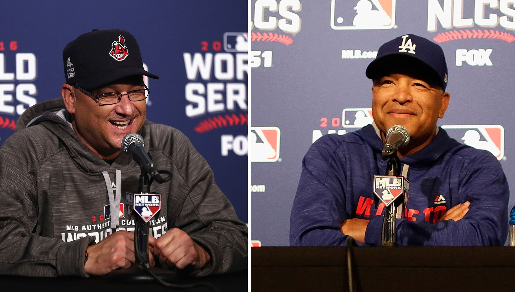 Terry Francona and Dave Roberts won the Manager of the Year awards on Tuesday. (Getty Images)