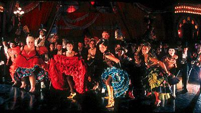 """The Four Whores"" of the Moulin Rouge: (L-R) Mome Fromage ( Lara Mulcahy ), Nini-Legs-In-The-Air ( Caroline O'Connor ), China Doll ( Natalie Mendoza ) and Arabia ( Christine Anu ) in 20th Century Fox's Moulin Rouge"