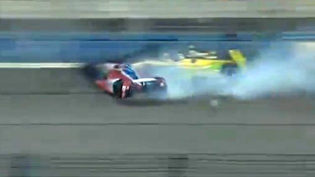 Justin Wilson crash (screengrab)