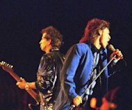 Mick Jagger (R) and Keith Richards of the Rolling Stones perform in 1995. Most London shoppers rush by 165 Oxford Street without a second glance -- but it was there 50 years ago that The Rolling Stones played their first gig and changed the landscape of pop music forever