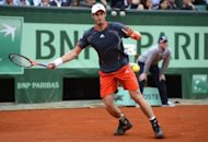 Britain's Andy Murray hits a return to Spain's David Ferrer during their men's quarterfinal tennis match of the French Open tennis tournament at the Roland Garros stadium in Paris. Ferrer defeated Andy Murray 6-4, 6-7 (3/7), 6-3, 6-2