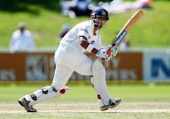 Gautam Gambhir of India in action during day two of the First Test match between New Zealand and India at Seddon Park on March 19, 2009 in Hamilton, N...