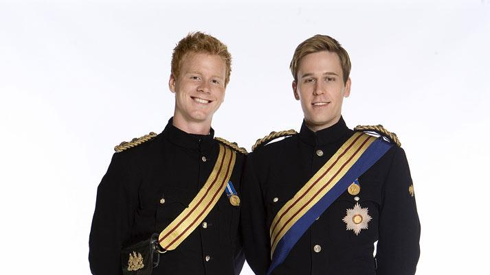 "Stanley Eldridge as HRH Prince Harry and Dan Amboyer as HRH Prince William in ""William & Catherine: A Royal Romance."""