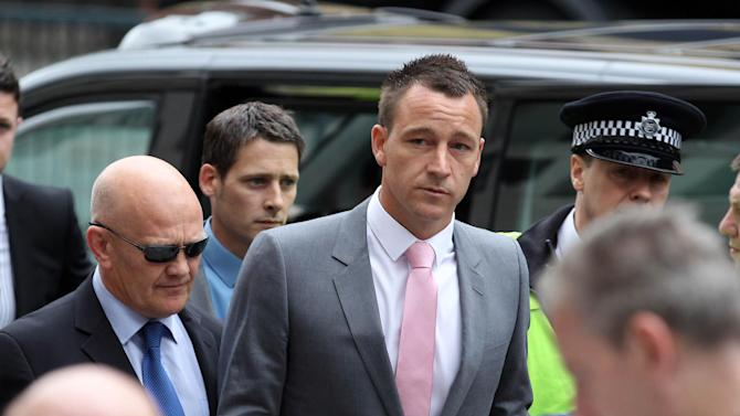 Chelsea captain John Terry arrives at Westminster Magistrates' Court