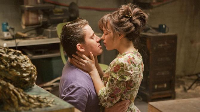In this file photo released by Columbia Pictures, Rachel McAdams, left, and Channing Tatum are shown in a scene from