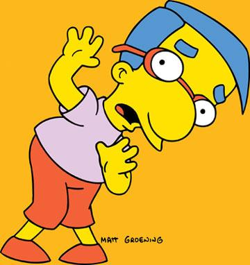 Milhouse Van Houten (voiced by Pamela Hayden) Fox's The Simpsons