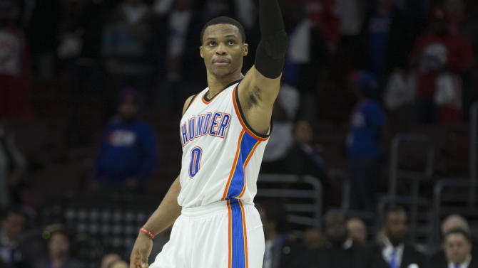 Westbrook leads Thunder as Davis delights