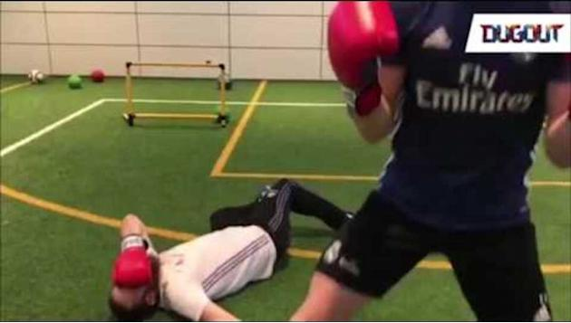 VIDEO: It's All Fun & Games as Gareth Bale KO's His Trainer in Hilarious Boxing Clip