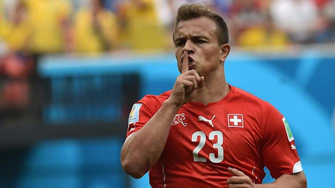World Cup - Shaqiri strikes Swiss treble to set up Argentina clash