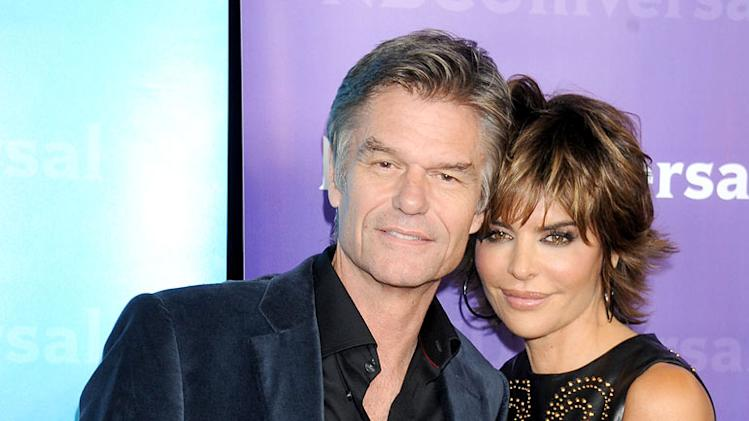 Harry Hamlin and Lisa Rinna attend the 2012 NBC Universal Winter TCA All-Star Party at The Athenaeum on January 6, 2012 in Pasadena, California.
