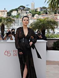 """Chinese actress Hao Lei poses during the photocall of """"Mystery"""" presented in the """"Un Certain Regard"""" selection at the 65th Cannes film festival in Cannes"""