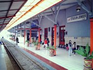 Calm and Quiet: Despite it being the week of JFC, the Jember train station remains quiet (