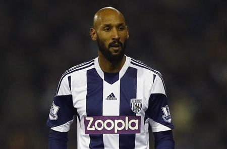 West Bromwich Albion's Nicolas Anelka looks on during their English Premier League soccer match against Everton at The Hawthorns in West Bromwich, central England January 20, 2014. REUTERS/Darren Staples/Files