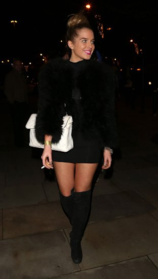 PHOTO: The Bum Factor! Helen Flanagan Nearly Flashes In Short LBD At X Factor Party