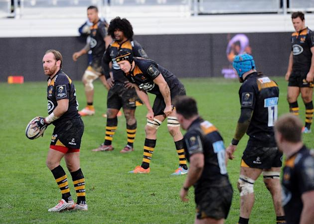 Wasps fly half Andy Goode engages during the European Rugby Champions Cup Castres vs Wasps, on December 7, 2014
