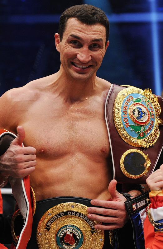 Ukrainian Heavyweight Boxing World Champion Wladimir Klitschko Celebrates AFP/Getty Images