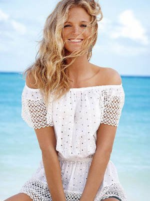 Victoria's Secret Eyelet Cinch-Waist Top
