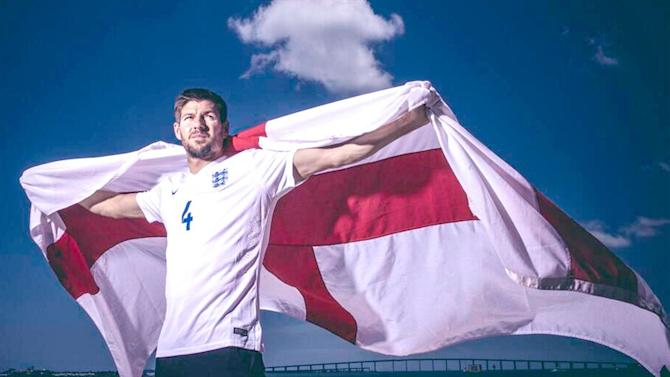 World Cup - England fan gets Steven Gerrard's face shaved into his hair