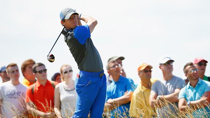 The Open Championship - McIlroy roars into lead, Woods and Scott lurk at Hoylake