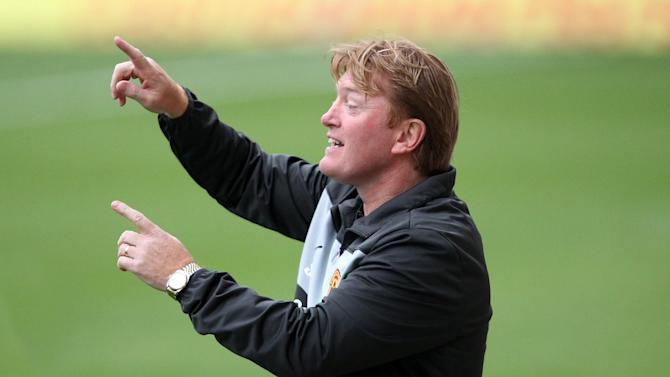 Stuart McCall, pictured, was delighted with the performance of Motherwell's hat-trick hero Michael Higdon