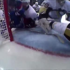 Malkin clears the puck off the goal line
