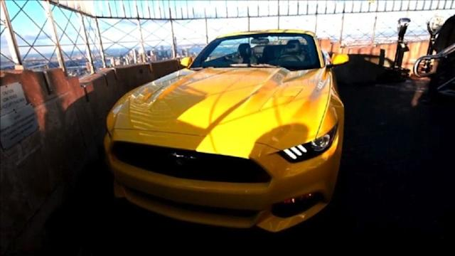 Novo Mustang no topo do Empire State