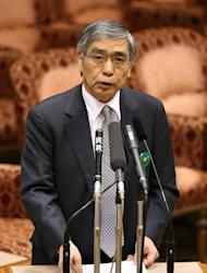 Haruhiko Kuroda, incoming BoJ governor, is pictured in parliament in Tokyo on March 11, 2013. The central bank has faced criticism from Kuroda, who himself has pledged to reverse years of falling prices that crimped private spending and corporate investment