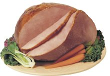 Cook's Half Bone-In Shank Ham brined with ham and water product
