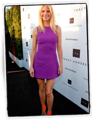Gwyneth Paltrow en violeta | Getty Images