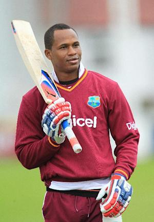Marlon Samuels scored an unbeaten 85 as West Indies won their T20 contest with Bangladesh