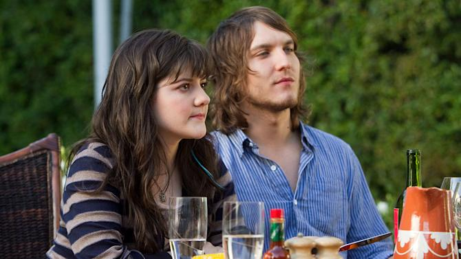 """Madeleine Martin as Becca and Scott Michael Foster as Tyler in """"Californication."""""""