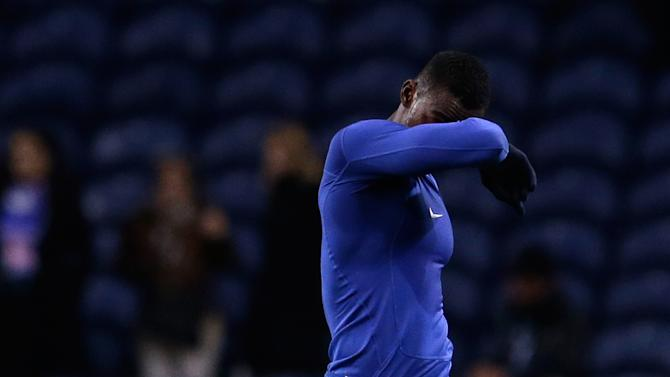 Porto's Jackson Martinez leaves the pitch at the end of the Champions League group G soccer match between FC Porto and Austria Vienna Tuesday, Nov. 26, 2013, at the Dragao stadium in Porto, northern Portugal. The game ended in a 1-1 draw