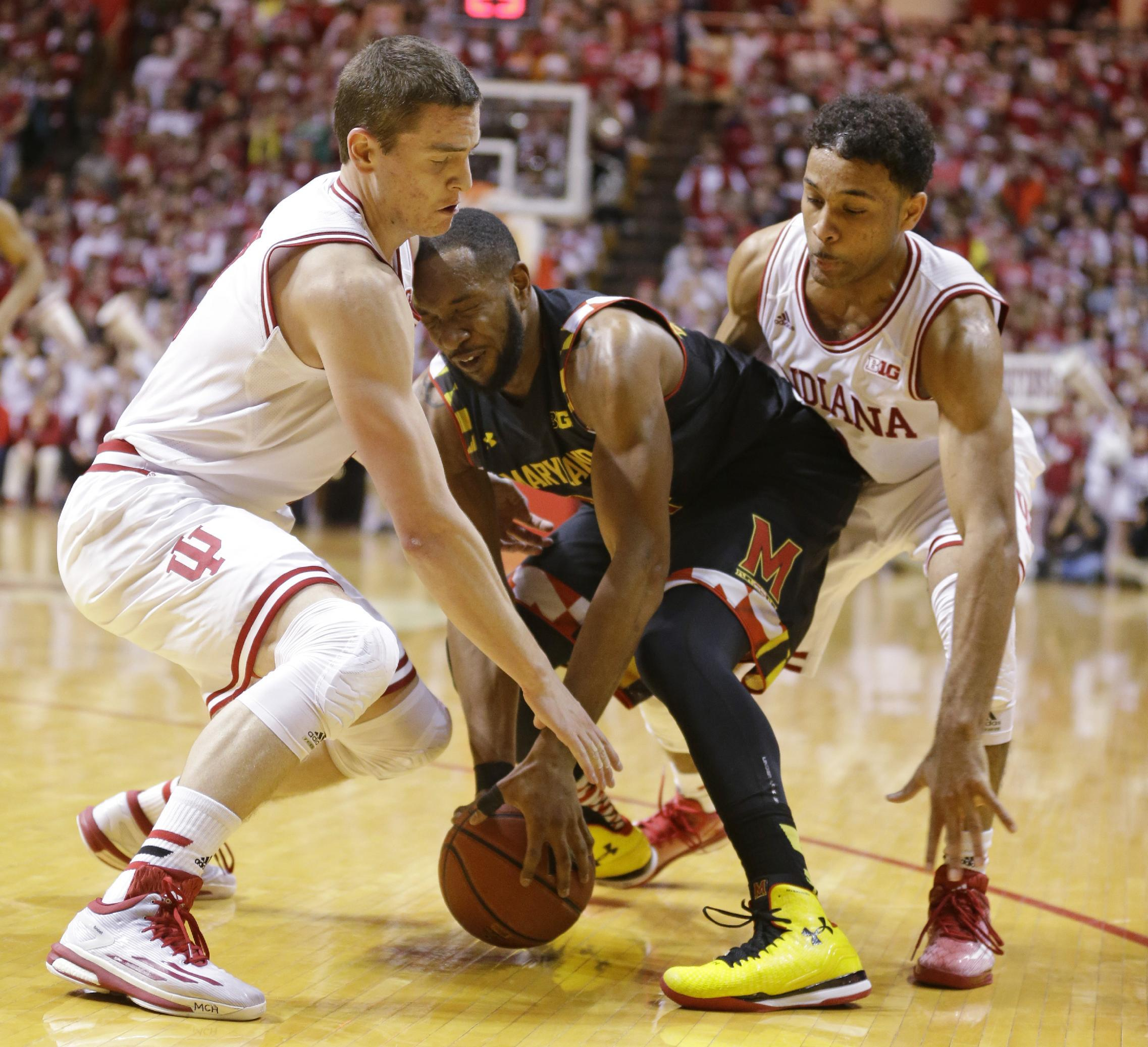 No. 23 Hoosiers ride hot shooters past No. 13 Maryland 89-70