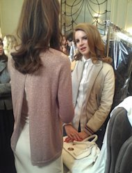 Backstage at the Mulberry show today, Grazia Daily meets Lana Del Rey; without a doubt one of the most intriguing celebrities currently in the public eye