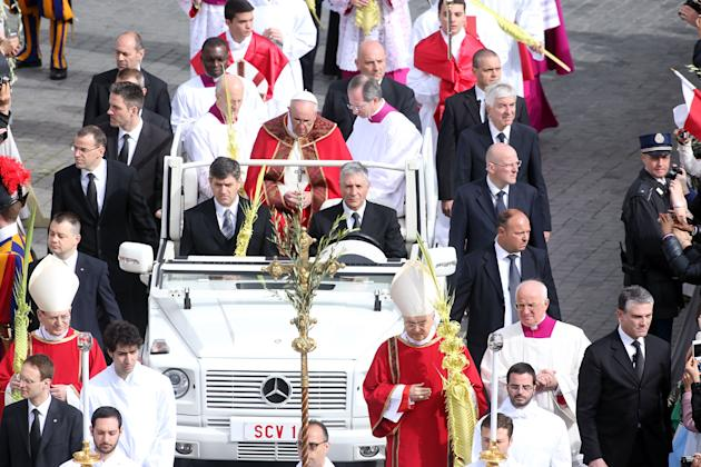Pope Francis Conducts The Palm Sunday Celebrations In St Peter's Square