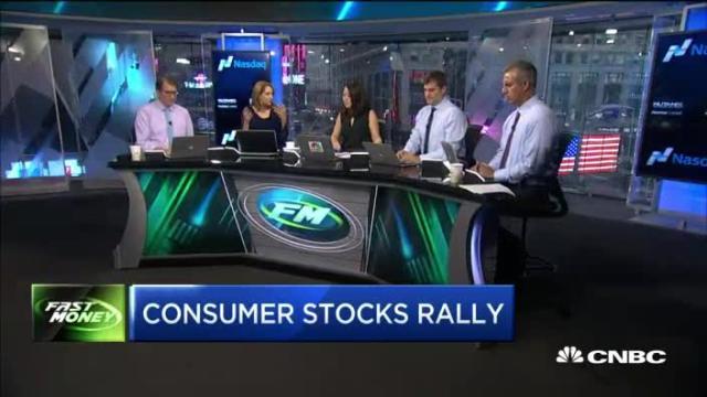 Consumer stocks rally